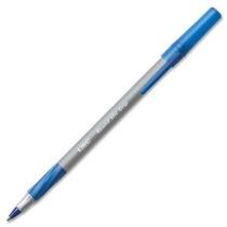 Bic Round Stic Grip Bolígrafo Fine Point 0.8mm Azul 12 Pluma