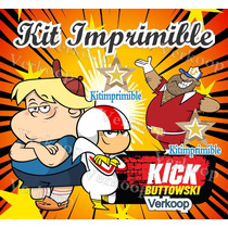 Kit Imprimible Kick Buttowski Candy Bar Invitaciones Fiesta