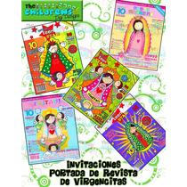 Invitaciones Primera Comunion-virgencitas-santitos
