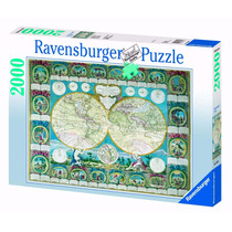 Rompecabezas Ravensburger 2000 Piezas Mapa Historico 16670