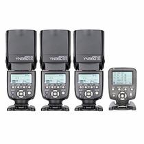Kit 3 Flash Yongnuo Yn560 Iii Y 1 Controlador Yn560 Tx Canon