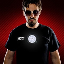 Playera Stark Industries Ironman Led
