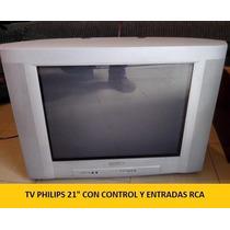 Tv Philips 21 Con Control ¡oferta Limitada!