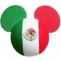 Mickey Bandera Mexico Epcot Disney Adorno Antena Automovil