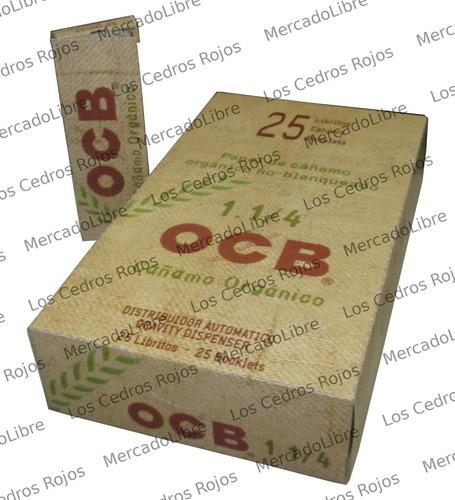 25 Pza Papel Ocb Organico. Zig Zag . Liar. 78mm  1 1/4