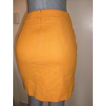 Falda Talla Ch Moda Retro Color Durazno Palido Marca Zara