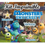 Kit Imprimible Monster University + Candy Bar Marcos Fiestas