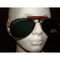 Fashion Lentes Aviador Retro Mica Cristal Armazon Oro Mn4 $