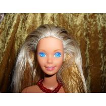 Barbie Rubia Vestido Rojo Hecha En Mexico Mn4
