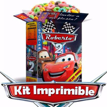 Kit Imprimible Cars, Rayo Mcqueen, Decoraciones Para Fiesta