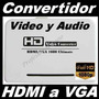 A11 Adaptador Hdmi A Vga Hometheater Minicomponente Audifono