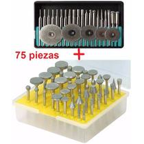 75 Puntas Y Discos De Diamante Mini Taladro Dremel Motool