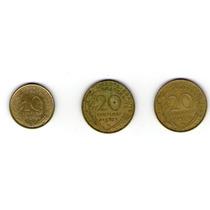 Moneda De 10 Centimos 1962 Y 20 Centimos 1962, 1972 Francos