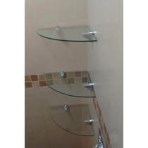 Kit De Repisas De Cristal Para Baño