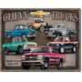 Poster Metalico Litografia Lamina Anuncio Chevrolet Trucks