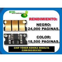 Chip Toner Konica Minolta C200 C203 C253 C353