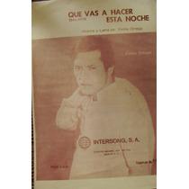 Partitura Y Letra, Palito Ortega