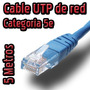Cable De Red Utp 5 Metros Categoria 5e Para Pc Laptop Xbox