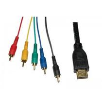 Cable Adaptador Hdmi A 5 Rca, Audio Y Video De 1.5 Metros.