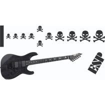 Stickers Guitarra Electrica Kirk Hammett Esp Kh 20 Skulls