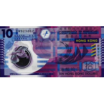 Grr- Billete De Hong Kong 10 Dollars 2007 - Plástico!!