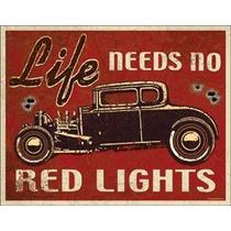 Poster Litografia Lamina Hot Rod Life Needs No Red Anuncio