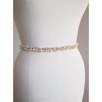 Hermoso Y Elegante Cinto Novia Fiesta Cristales Perlas