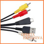 Cable Usb Audio Y Video Vmc-md3 Camaras Sony Dsc-w350 T99