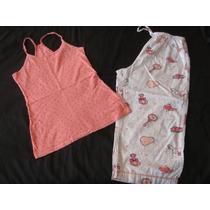 Mossimo Old Navy Set Pijama Capri Salmon Talla M