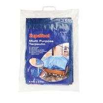 Cubierta Del Coche - Supatool Azul Lona 5.4mx 3.7m Impermeab