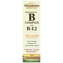 Sundown Naturals Vitamina B-12 Complex Sublinguales 2 Onzas
