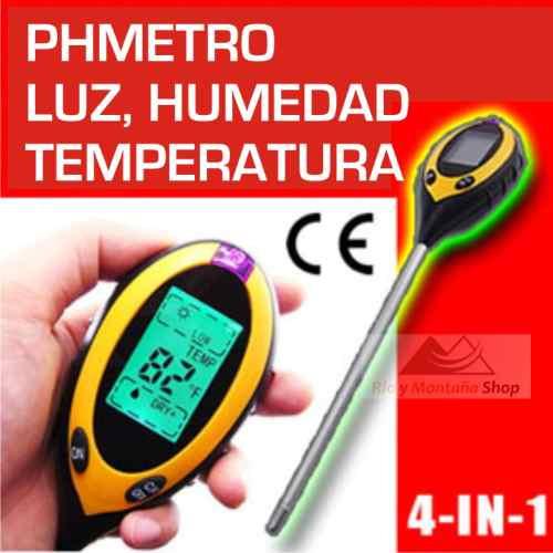 Phmetro medidor ph humedad luz temp suelo tierra cultivos for Medidor ph tierra