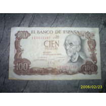 Billete De 100 Pecetas Mn4