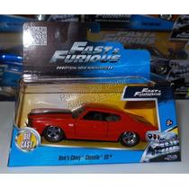 1:32 Chevrolet Chevelle 1970 Rojo Rapido Y Furioso Jada Caja
