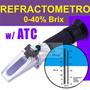 Refractometro Brix Azucar 0-40% Alcohol 0-20% Bebidas Licor