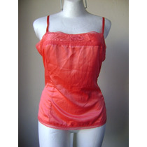 Old Navy Top Pijama Color Coral Satinado!! Bl438
