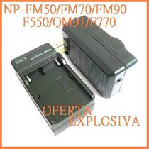 Cargador C/smart Led P/bateria Np-f960/f970/qm91/qm71/qm91d