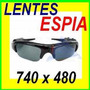 Lentes Espia Filtro Uv Hd 8gb Usb Dvr Spy 8 Gb Digital Mini