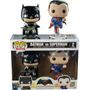 Funko Pop Set 2 Batman Vs Superman Metalicos Exclusivos Dc