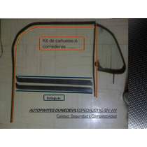 Kit De Cañuelas Volkswagen Vocho Bocho Botaguas Aletilla Mk1