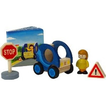 Hape Inteligente Car And Driver Playset