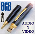 Camara Pluma Espia Mini Dv Hd Full 8gb Usb,audio Y Video,