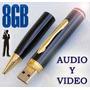 Camara Pluma Espia Mini Dv Hd Full 8gb Usb,audio Y Video,