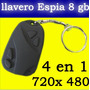 Mini Camara Espia Llavero Alarma De Carro Hd 8gb Usb Dvr Spy