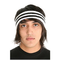 Hot Topic Banda Para Cabeza Black And White Striped Terry