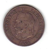 10 Centimos 1861 Moneda Francia Paris Napoleón Ill - Vbf