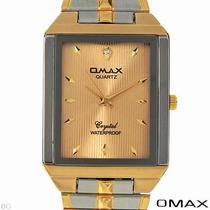 Reloj Omax / Caballero / Dorado Y Plateado / Ejecutivo Sp0
