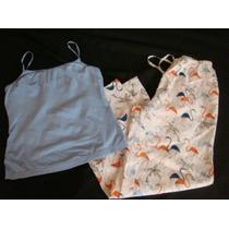 Alfani Gap Set Pijama Celeste Flamingos Talla S