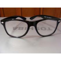 Fashion Armazon Retro Vintage Color Negro Micas Claras Mn4 $