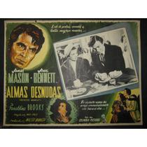 Joan Bennett, Almas Desnudas / Reckless Cartel (lobby Card)